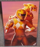 Power Rangers Yellow Ranger Glossy Art Print 11 x 17 In Hard Plastic Sleeve - $24.99