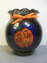 Glass Halloween Candle Holder Votive Tea Light ... - $14.95