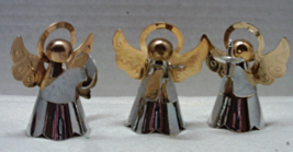 Vintage SILVER & GOLD PLATED Brass Angel Figuri... - $12.00