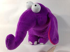 Beverly Hills Teddy Bear Co Purple Elephant Plush Plum Trunk Stuffed Ani... - $27.99