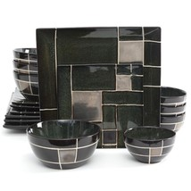 Gibson Elite Azeal 16 Piece Double Bowl Dinnerw... - $75.87