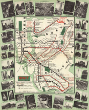 1939 New York Subway Map BMT Rapid Transit Elevated Lines Wall Art Poste... - $12.38+