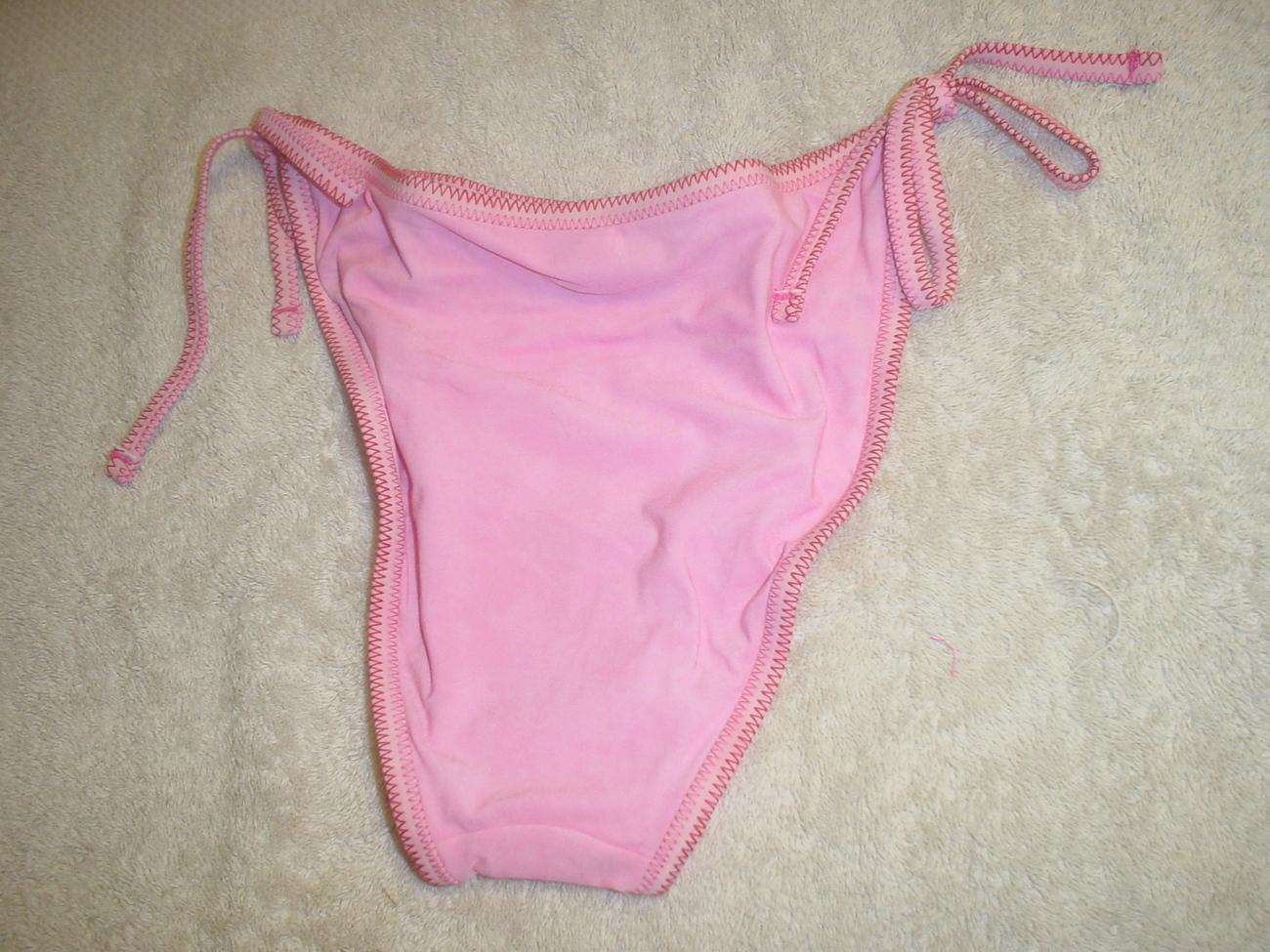 Blue Point String Bikini Pink Hibiscus Size 10 NWT