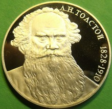 Cameo Proof Russia 1988 Rouble~160th Anniversary - Birth of Leo Tolstoi~... - $15.04