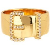 "NEW $95 AUTH RACHEL ZOE ""SOPHIA"" PAVE BUCKLE RING Size 6 w/POUCH - BEAUT... - $35.52"