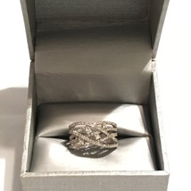Zales White Gold Diamond Intertwined Band Ring with 1 ct tw Size 7 - $1,299.00