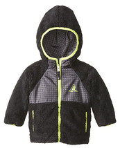 Rugged Bear Reversible Coat Baby Sherpa Hooded Black Jacket Toddler Size... - $22.50