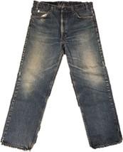 Levis Mens Jeans 505 Blue Denim Regular Fit Straight Leg Zip Fly 36 x 30... - $14.50