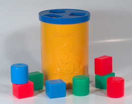 Vintage 1977 Fisher Price Shape Sorter Bucket Baby's First Blocks - $9.74