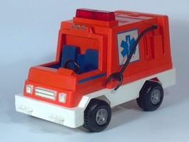 Vintage 1982 Fisher Price Husky Helpers Rescue Rig 337 Ambulance Orange ... - $19.34