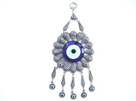 Wall Hanging Amulet Turkish Silver Plated &  Evileye 24 cm - $16.99