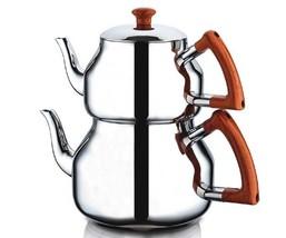 Turkish Teapot Set Stainless Steel (Family size) Özkent,Marmaris - $119.99