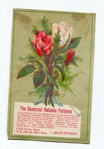 Demorest Patterns Victorian Trade Card  Paris and USA Addresses - $12.86