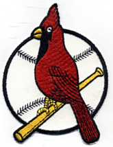 """St. Louis Cardinals MLB Throwback Logo 5 1/2"""" Tall Embroidered Patch NOS - $6.00"""