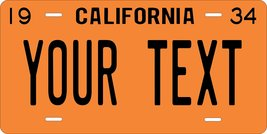 California 1934 Personalized Custom Novelty Tag Vehicle Car Auto Motorcy... - $16.75