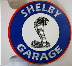 "Shelby Garage Flange Sign 12"" Diameter - $60.00"
