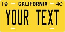 California 1940 Personalized Custom Novelty Tag Vehicle Car Auto Motorcy... - $16.75