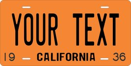 California 1936 Personalized Custom Novelty Tag Vehicle Car Auto Motorcy... - $16.75