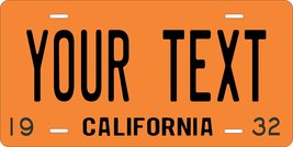 California 1932 Personalized Custom Novelty Tag Vehicle Car Auto Motorcy... - $16.75