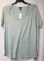New Womens Plus Size 3X Light Mint Green Cut Out Shoulder Piece Tee Shirt Top - $16.44