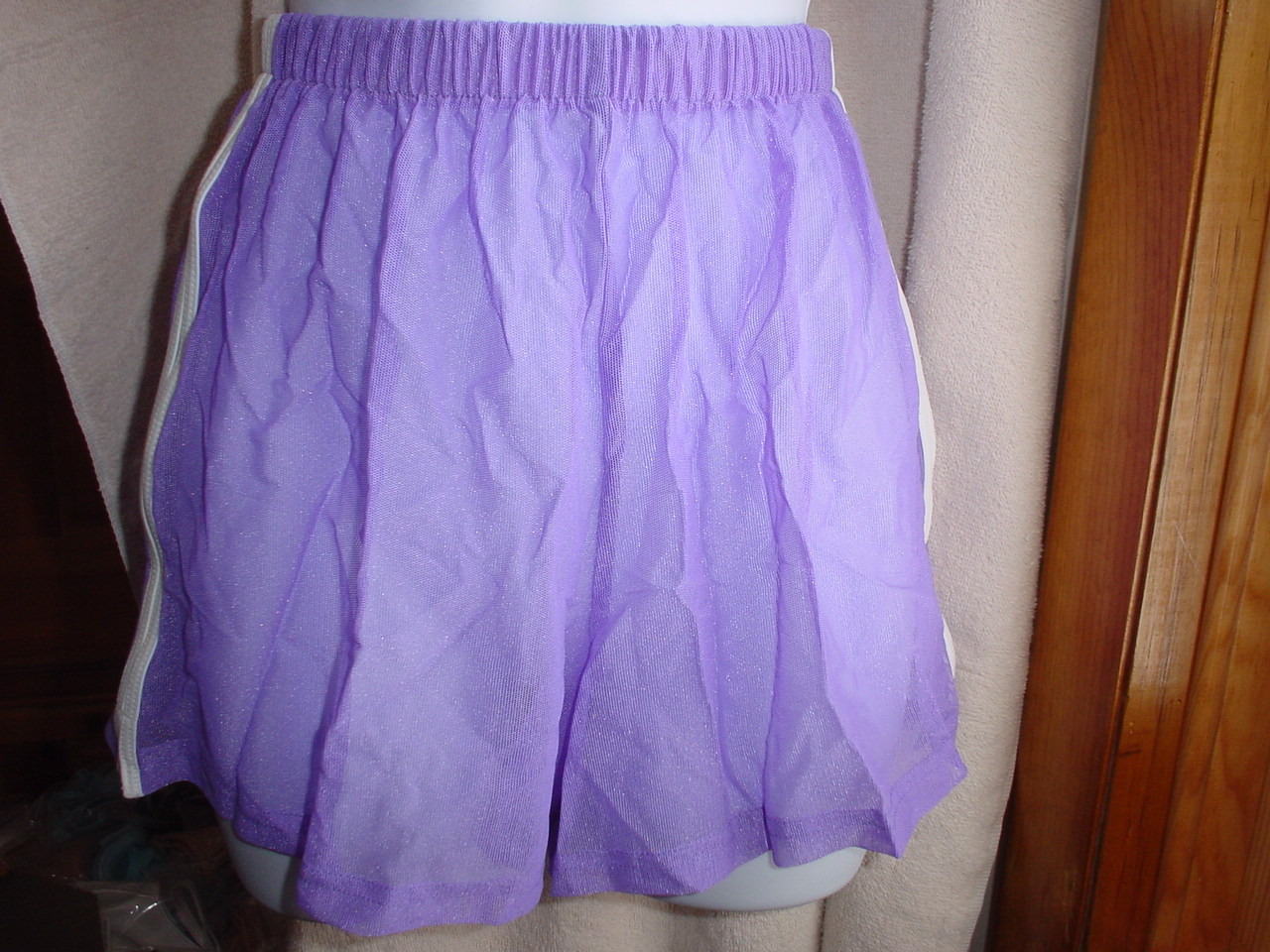 Victorias Secret Mesh Swim Shorts XSmall Violet