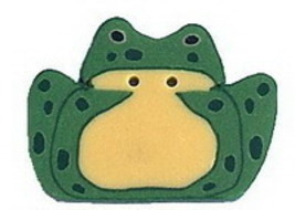 """Toad 1139 handmade polymer clay button .625"""" JABC Just Another Button Co - $2.00"""