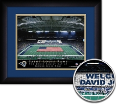 "Personalized St. Louis Rams Stadium ""Your Day At"" - 15"" x 18"" Framed HD ... - $1.019,16 MXN"