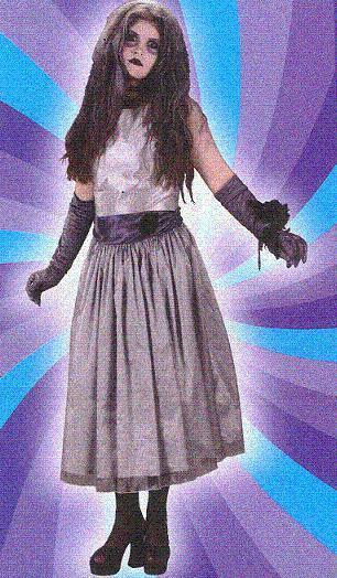 TEEN ZOMBIE PROM DRESS COSTUME FITS JR 0-9