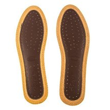 Flat Shoe Insoles Stylish Shoe Inserts Durable Shoe Cushions Brown - $11.20