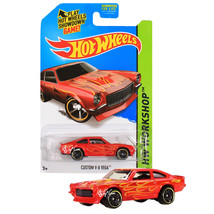 NEW 2014 Hot Wheels 1:64 Die Cast Car HW WORKSHOP Red Custom V-8 Vega He... - €12,79 EUR