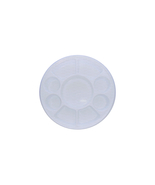 Nine Compartment White Plastic Thali - Food Grade - 50 plates - $40.00