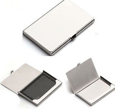 Fine Stainless Steel Pocket Name Credit ID Business Card Holder Box Meta... - $7.90