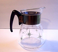"Vintage Corning Golden Starburst 6 Cup Coffee Carafe 6.5"" H x 5"" D - $22.99"