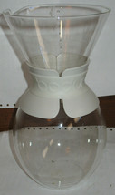 Vtg Bodum 157 Glass Coffee Carafe needs Filter or Great Pitcher for Wate... - $18.81