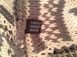 Nordic infinity scarf warm cozy reversible choice red blue gray beige black image 3