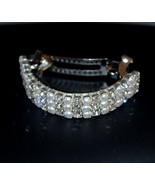 Crystal Rhinestone and Pearl Ponytail Barrette  - $19.95
