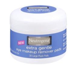 Neutrogena Extra Gentle Eye Makeup Remover Pads - 30 Large Plush Pads - $9.49