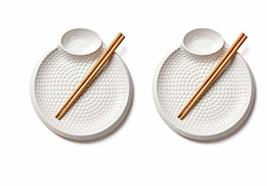 Tnlife Multi Serving Ceramic Plate Sauce Tray Round Multipurpose Kitchenware Din