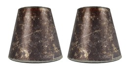 Urbanest Set of 2 3-inch by 5-inch by 4.5-inch Mica Chandelier Shade, Amber - $21.77