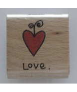 """Love Heart Rubber Stamp by Stampcraft 1 1/2"""" x 1 1/2"""" - $5.19"""