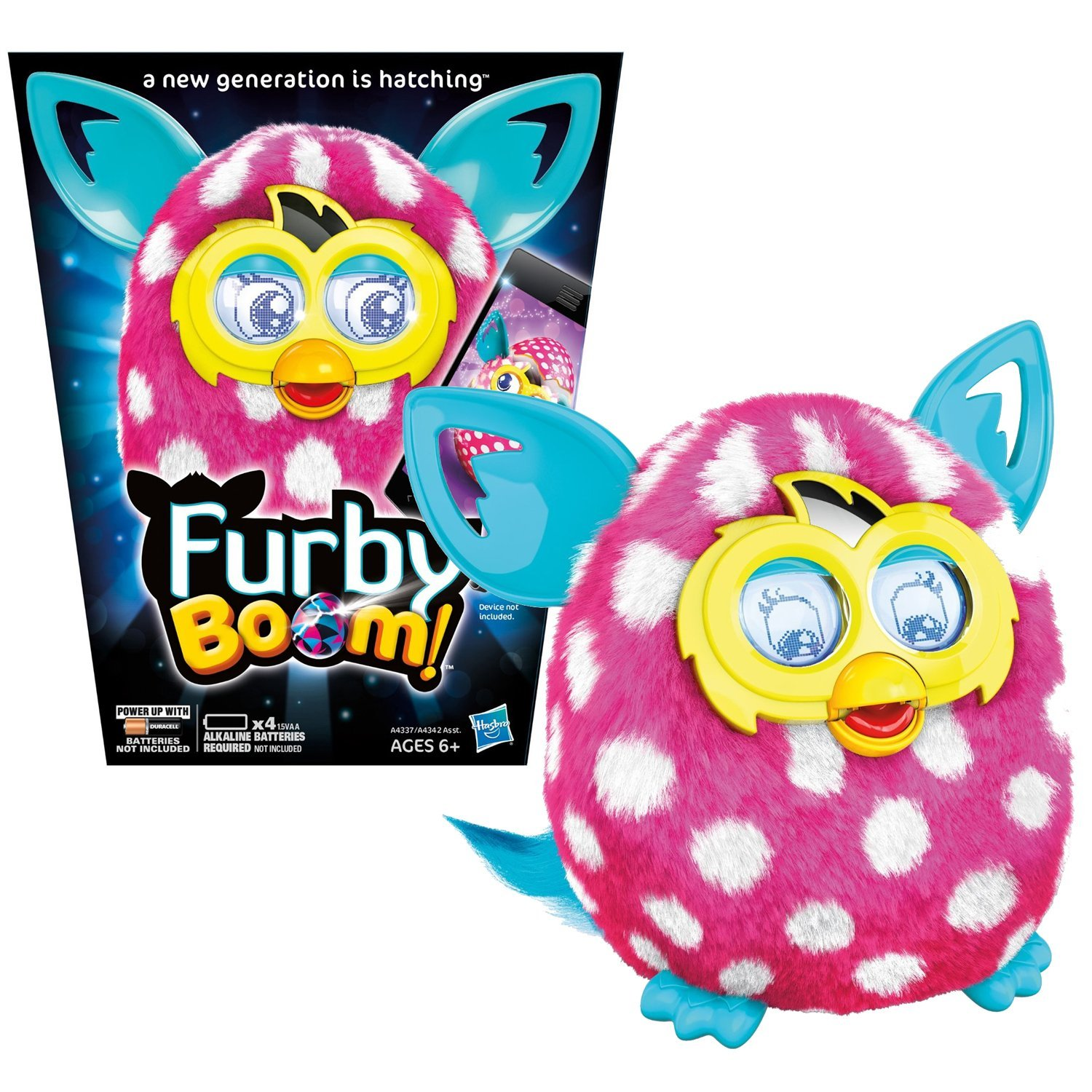 Hasbro Year 2013 Furby Boom Series 5 Inch Tall Electronic App Plush Toy Figure -