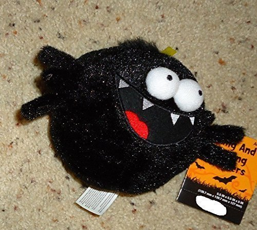 5 Inch Animated Rolling and Giggling Black Spider Musical Animated Halloween Plu