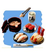 Re-Ment Japanese Sushi Bar #3 Meal Set Retired ... - $69.97