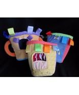 Taggies stacking buckets soft Plush Baby toddler developmental play Toy set - $15.63