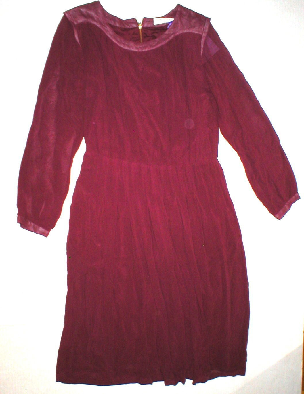New Womens 4 NWT Designer Red Valentine Gauthier Dress Silk Long Sleeves 38 FR