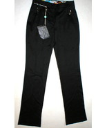 New Womens 10 NWT Designer Emilio Pucci Black Wool Pants Tall Italy Trou... - $1,865.00
