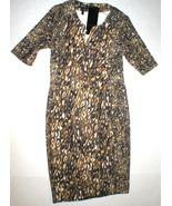 New Womens 2 NWT Designer Escada Sport Leopard Print Dress 38 Ejunka Kne... - $589.99