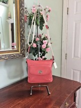 Coach Crossbody Bag Park Pebbled Leather Turnlock Zip Pink Coral F49170 ... - $89.09
