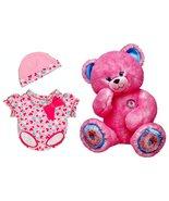 Build a Bear Sprinkled Donut Fuchsia Teddy Matc... - $139.95