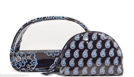 Vera Bradley Blue Bandana Cosmetic Duo Bag 14187-286 - £39.00 GBP
